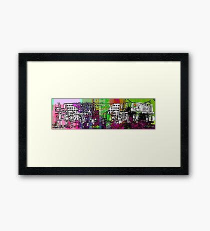 Concrete Color Scape Framed Print