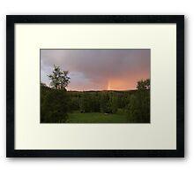 Rainbow on a summer evening Framed Print