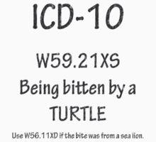ICD-10: Bitten by a turtle by Corri Gryting Gutzman