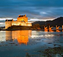 Eilean Donan by Floodlight by Stuart Blance