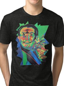 Salvador Dali with Ocelot and Cane Tri-blend T-Shirt