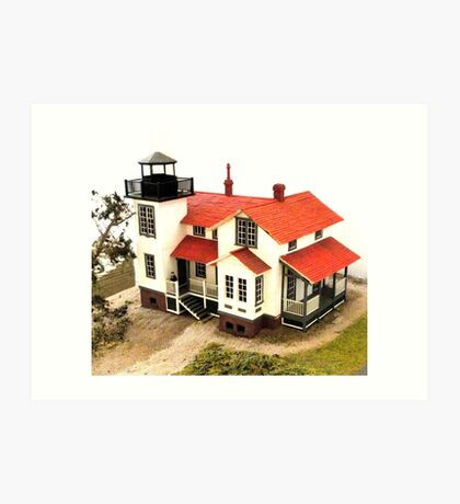 """Old Point San Luis Lighthouse - Scale Model"" Art Print"