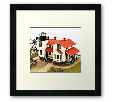 """Old Point San Luis Lighthouse - Scale Model"" Framed Print"