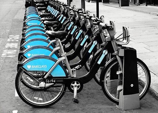 Boris Bikes, London, UK by Astrid Ewing Photography