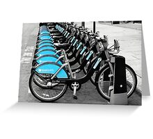 Boris Bikes, London, UK Greeting Card