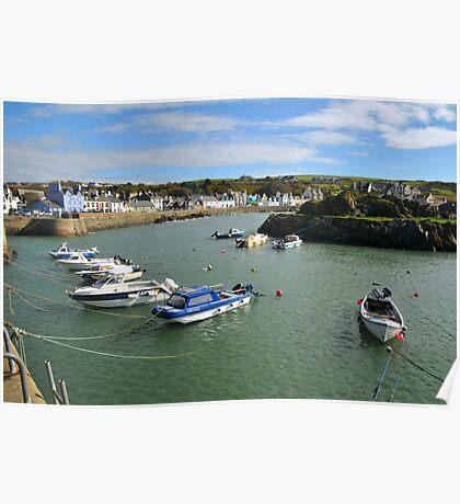 Portpatrick harbour. Poster