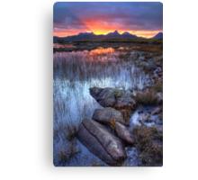 Coigach Sunrise. Far North West Highlands of Scotland. Canvas Print