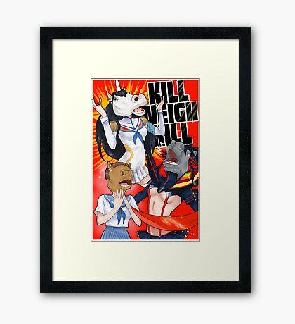 Kill Neigh Kill- Kill La Kill with Horse masks Framed Print