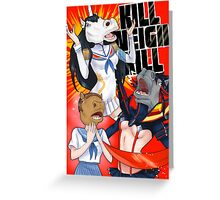 Kill Neigh Kill- Kill La Kill with Horse masks Greeting Card