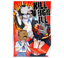 Kill Neigh Kill- Kill La Kill with Horse masks Poster