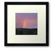 Rainbow on a summer evening 2 Framed Print