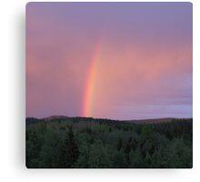 Rainbow on a summer evening 2 Canvas Print