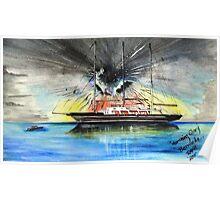 Morning Glory Sailing Vessel, Bermuda. Poster