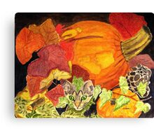 I'm Hiding in the Pumpkin Patch Canvas Print