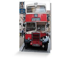 No 92 to Stockport Greeting Card