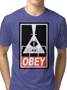 OBEY Bill Cipher Tri-blend T-Shirt