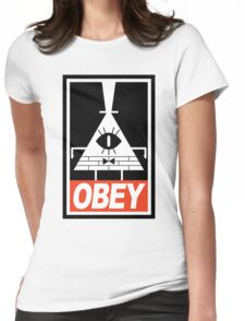 OBEY Bill Cipher Womens Fitted T-Shirt