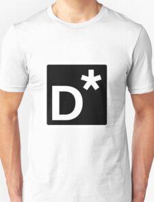 D* Square (Black) Unisex T-Shirt