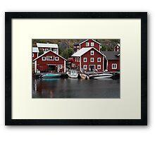 Fishing village on a rainy day 2 Framed Print