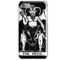Black and White Devil Tarot Card iPhone Case/Skin