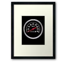 Speedometer Framed Print