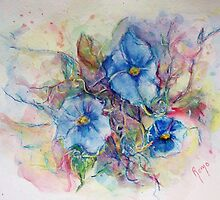 Morning Glories by Robin Monroe