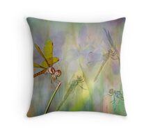 Dance of the Dragonflies Throw Pillow