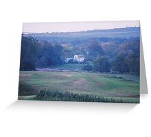 Farm House In The Distance Greeting Card
