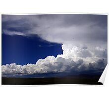 Storm clouds over the desert Poster