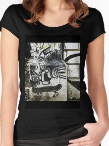 skateboard Women's Fitted Scoop T-Shirt