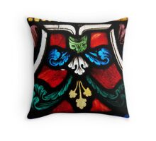 Stained Glass Flourishes 3 Throw Pillow