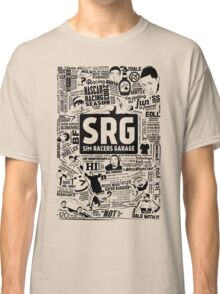 Sim Racers Garage Collage - Black w/ White Products Classic T-Shirt
