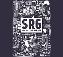 Sim Racers Garage Collage - White w/Black Products Unisex T-Shirt