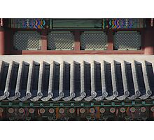Korean Palace Roof Photographic Print