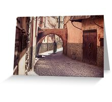 The Streets of Marrakech Greeting Card