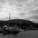 Greyscale Boat. by Mbland