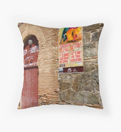 Bull Ring - Toledo, Spain Throw Pillow