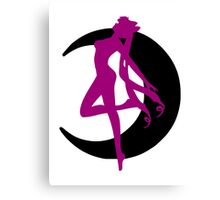 Wicked Lady Transformation Silhouette Canvas Print