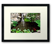 Happiness is our own Pond Framed Print