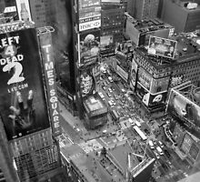 Times Square B&W by Polly Greathouse