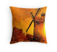 Horsey Windmill, Norfolk Broads Throw Pillow