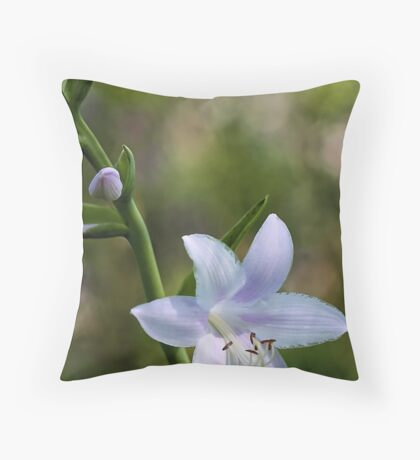 Hosta Blossoms - Late Afternoon Light Throw Pillow