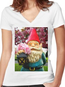Pretty Gnome Women's Fitted V-Neck T-Shirt