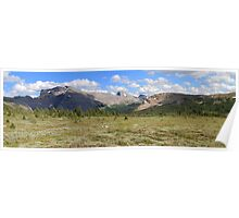 Panoramic meadows Poster