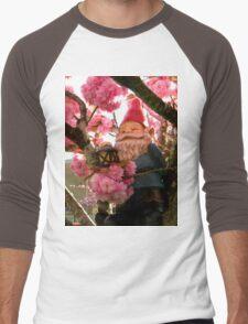 Pink Canopy Gnome Men's Baseball ¾ T-Shirt