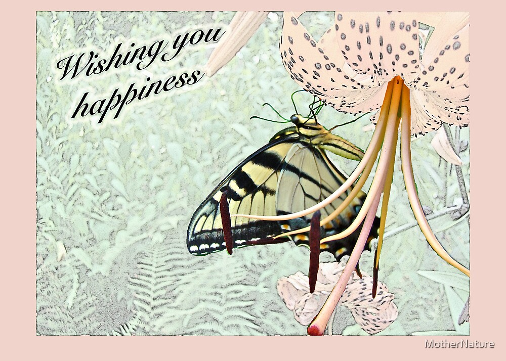 Wedding Happiness - Butterfly and Lily by MotherNature