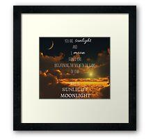 Miss Saigon - Sun and Moon Framed Print