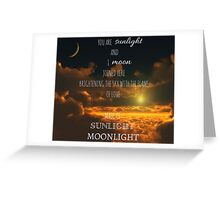 Miss Saigon - Sun and Moon Greeting Card