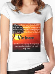 Miss Saigon - WHY GOD WHY Women's Fitted Scoop T-Shirt