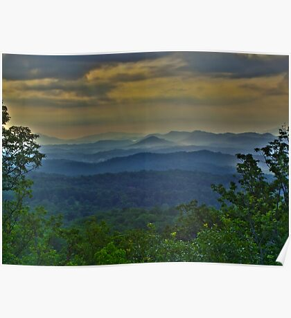 Great Smoky Morning HDR  Poster